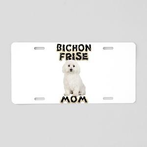 Bichon Frise Mom Aluminum License Plate