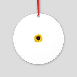 Sun Flower Ornament (Round)