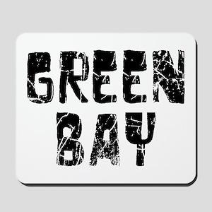 Green Bay Faded (Black) Mousepad