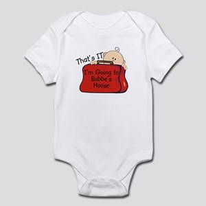 Going to Bubbe's Funny Infant Bodysuit