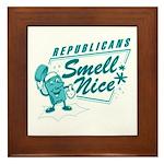 Republicans Smell Nice Framed Tile