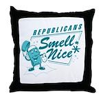 Republicans Smell Nice Throw Pillow