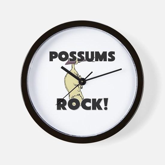 Possums Rock! Wall Clock