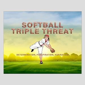 TOP Softball Triple Threat Small Poster