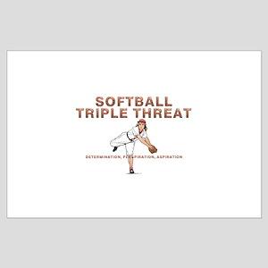 TOP Softball Triple Threat Large Poster