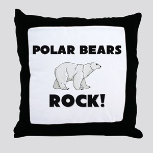 Polar Bears Rock! Throw Pillow