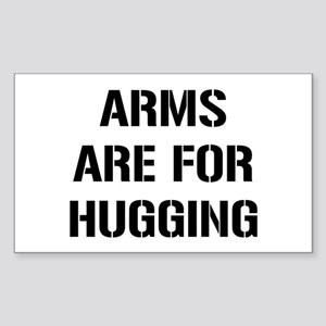 Arms Hugging Sticker (Rectangle)