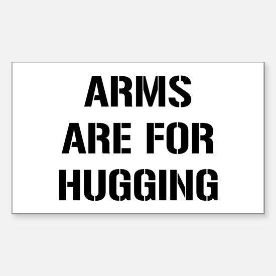 Arm Hugging Sticker (Rectangle)