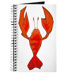 Crawfish Fleur De Lis Shape Journal