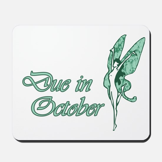 Due October Green W Fairy Mousepad
