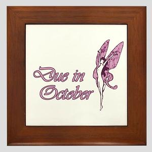 Due October Pink W Fairy Framed Tile