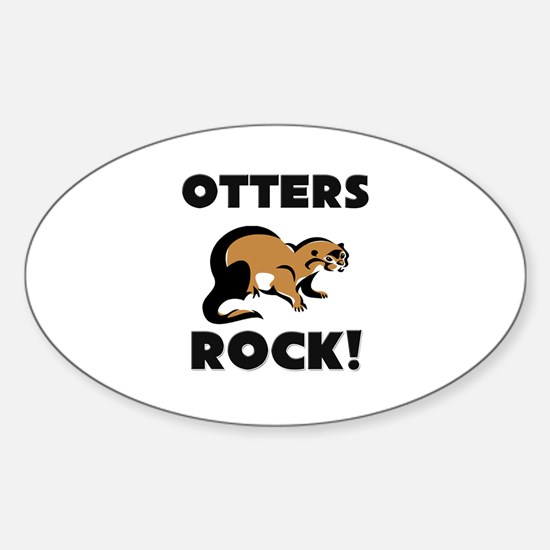 Otters Rock! Oval Decal