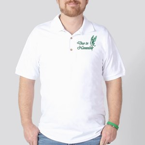 Due November Green W Fairy Golf Shirt