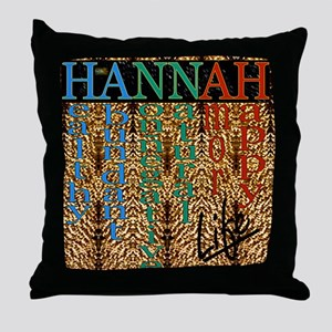 25th Quote; HANNAH Life Throw Pillow