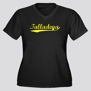 Vintage Talladega (Gold) Women's Plus Size V-Neck