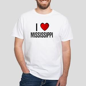 I LOVE MISSISSIPPI White T-Shirt