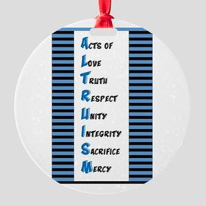 Altruism Round Ornament