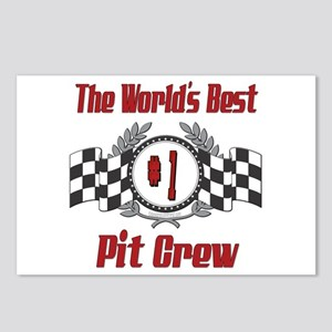 Racing Pit Crew Postcards (Package of 8)