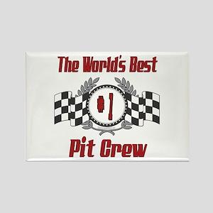 Racing Pit Crew Rectangle Magnet