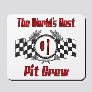 Racing Pit Crew Mousepad