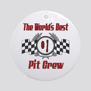 Racing Pit Crew Ornament (Round)