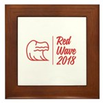 Red Wave 2018 Framed Tile