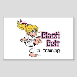 Black Belt in Training Rectangle Sticker