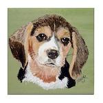 Beagle Tile Coaster (green)