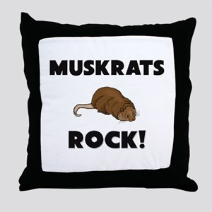 Muskrats Rock! Throw Pillow
