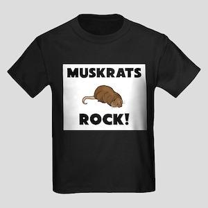 Muskrats Rock! Kids Dark T-Shirt