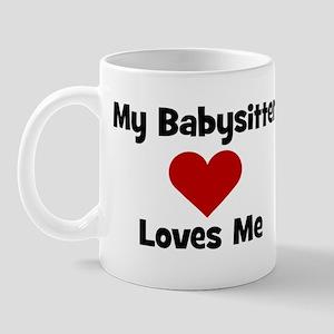 My Babysitter Loves Me! heart Mug