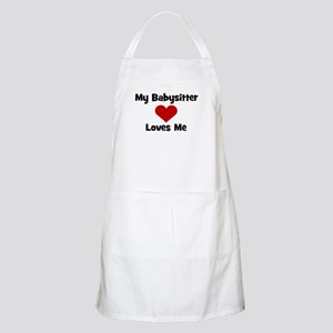 My Babysitter Loves Me! heart BBQ Apron