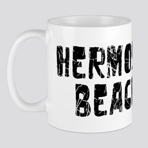 Hermosa Beach Faded (Black) Mug