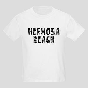 Hermosa Beach Faded (Black) Kids Light T-Shirt
