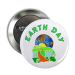 """Earth Day Home 2.25"""" Button (100 pack)"""