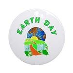 Earth Day Home Ornament (Round)