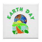 Earth Day Home Tile Coaster