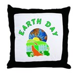 Earth Day Home Throw Pillow
