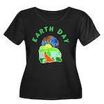 Earth Day Home Women's Plus Size Scoop Neck Dark T