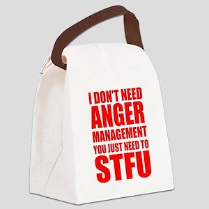 Anger Management STFU Canvas Lunch Bag