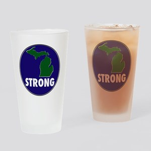 Michigan Strong Drinking Glass