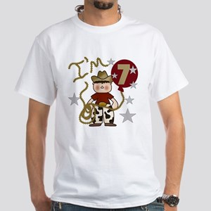 Cowboy 7th Birthday Kids T-Shirt
