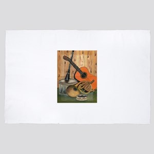 Acoustic Guitar Music-themed Art Paint 4' x 6' Rug