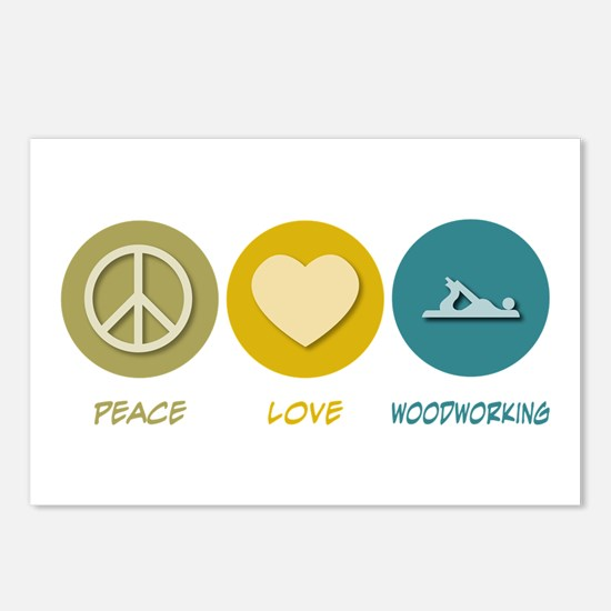 Peace Love Woodworking Postcards (Package of 8)