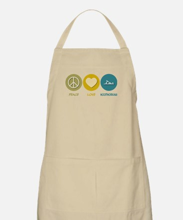 Peace Love Woodworking BBQ Apron