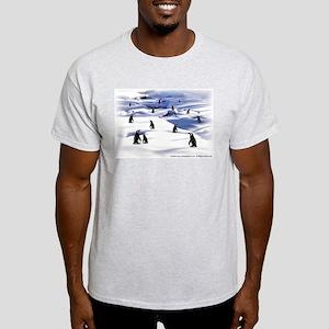 Penguin Scene Ash Grey T-Shirt