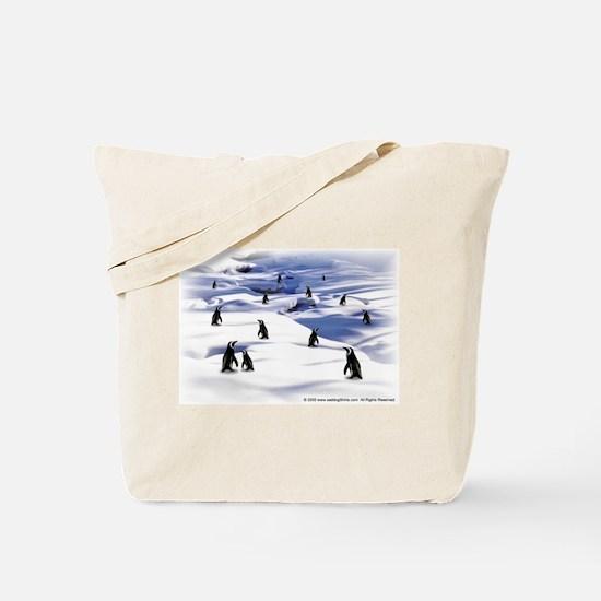 Penguin Scene Tote Bag