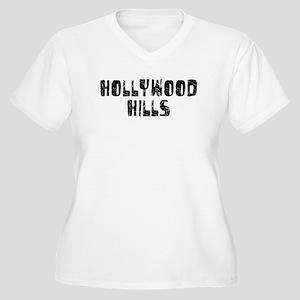 Hollywood Hi.. Faded (Black) Women's Plus Size V-N