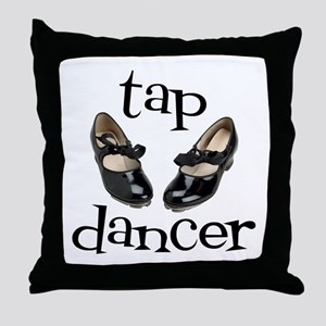 Tap Dancer Throw Pillow