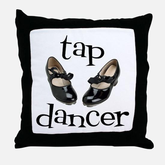 Tap Dancer Throw Pillow